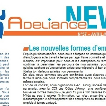 Adeliance News Avril/Mai